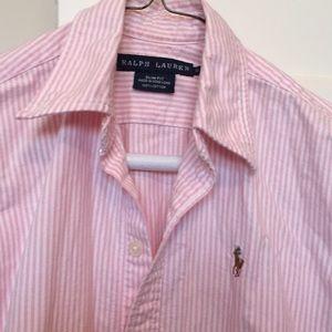Vintage Ralph Lauren slim fit button down pink 0